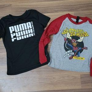 Bundle of boys shirts size 6